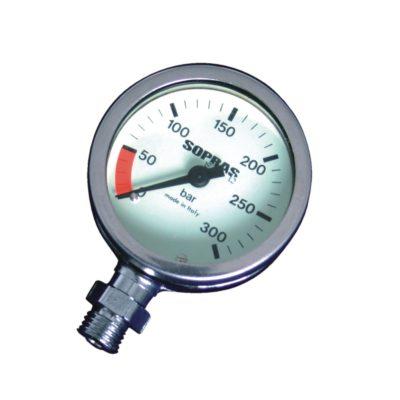 Pressure gauges, compass